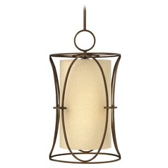 Frederick Ramond Pandora Brushed Cinnamon Pendant Light with Cylindrical Shade