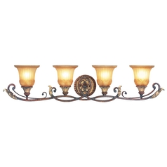 Livex Lighting Villa Verona Bronze with Aged Gold Leaf Accents Bathroom Light
