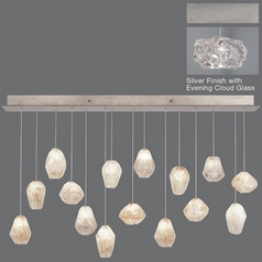 Fine Art Lamps Natural Inspirations Platinized Silver Leaf Multi-Light Pendant