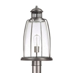 Seeded Glass Post Light Graphite Capital Lighting