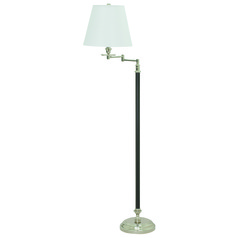 House Of Troy Bennington Black / Polished Nickel Swing Arm Lamp with Empire Shade