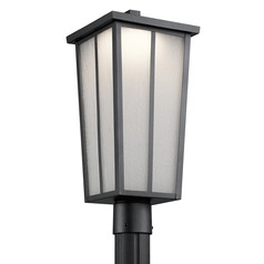 Kichler Lighting Amber Valley Textured Black LED Post Light
