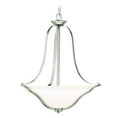 Kichler Lighting Langford Brushed Nickel LED Pendant Light with Bowl / Dome Shade