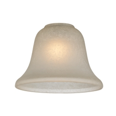 Caramelized Traditional Bell Glass Shade - Lipless with 1-5/8-Inch Fitter Opening