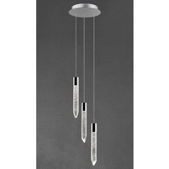 Design Classics Icicle Chrome LED Crystal Multi-Light Pendant
