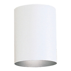 Progress Outdoor Flushmount Ceiling Light in White Finish