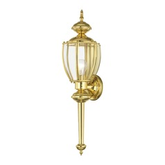 Livex Lighting Polished Brass Outdoor Wall Light