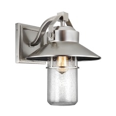 Feiss Lighting Boynton Painted Brushed Steel Outdoor Wall Light