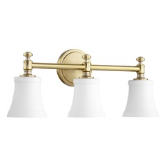 Quorum Lighting Aged Brass Bathroom Light