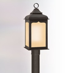 Post Light with Clear Glass in Colonial Iron Finish