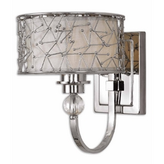 Modern Sconce Wall Light in Nickel Finish