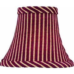 Red Striped Bell Lamp Shade with Clip-On Assembly