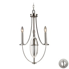 Dione Polished Nickel Mini-Chandelier - Includes Recessed Adapter Kit