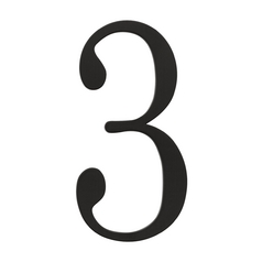 Atlas Homewares House Number in Black Finish TRN3-BL