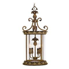 Livex Lighting Savannah Venetian Patina Pendant Light with Cylindrical Shade