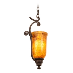 Kalco Lighting Somerset Tortoise Shell Mini-Pendant Light with Bell Shade