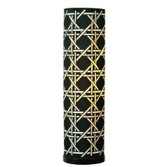 Xavier Black Table Lamp with Cylindrical Shade by Kenroy Home