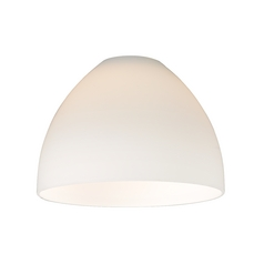 Design Classics Lighting Satin White Glass Shade - Lipless with 1-5/8-Inch Fitter Opening GL1033-WH