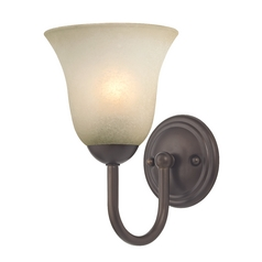 Sconce with Caramel Glass in Bronze Finish