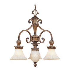 Livex Lighting Savannah Venetian Patina Chandeliers with Center Bowl