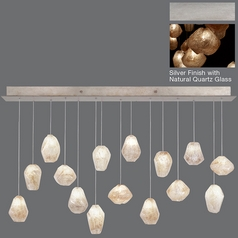 Fine Art Lamps Natural Inspirations Silver Leaf Multi-Light Pendant
