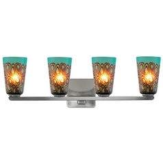 Oggetti Lighting Carnivale Satin Nickel Bathroom Light