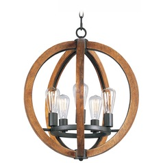 Maxim Lighting Bodega Bay Anthracite Mini-Chandelier