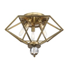 Savoy House Lighting Tekoa Warm Brass Flushmount Light