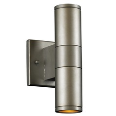 Modern Outdoor Wall Light in Silver Finish
