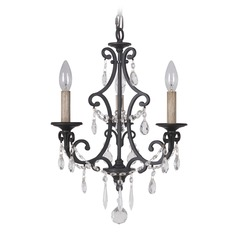 Craftmade Bentley Matte Black Crystal Chandelier