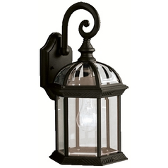 Kichler Lighting Kichler Outdoor Wall Light with Clear Glass in Black Finish 9735BK