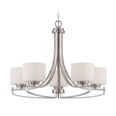 Designers Fountain Axel Satin Platinum Chandelier