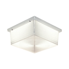 Prismatic Glass Outdoor Ceiling Light in White Finish