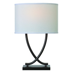 Valerie Graphite Table Lamp with Oval Shade by Kenroy Home
