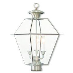 Livex Lighting Westover Brushed Nickel Post Light