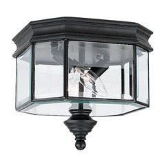 Sea Gull Lighting Hill Gate Black LED Close To Ceiling Light