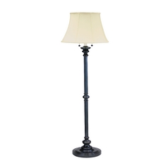 Floor Lamp with White Shades in Oil Rubbed Bronze Finish