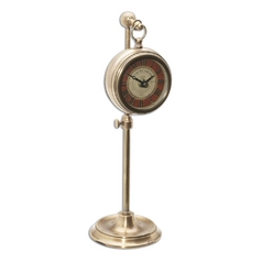 Clock in Brass Finish