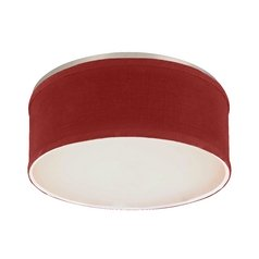 Drum Ceiling Trim for Recessed Lights with Red Shade