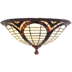 Design Classics Lighting Two-Light Tiffany Wall Sconce Light 5978-20
