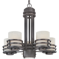 Five-Light Chandelier with Downlight