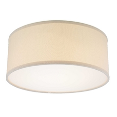 Decorative Ceiling Trim for Recessed Lights with Beige Drum Shade