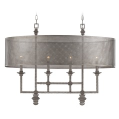 Savoy House Aged Steel Mini-Chandelier