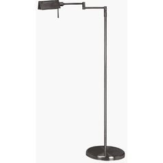 Modern Swing Arm Lamp in Black Finish