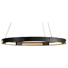 Hubbardton Forge Lighting Aura Dark Smoke LED Pendant Light