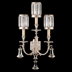 Fine Art Lamps Eaton Place Silver Leaf Sconce