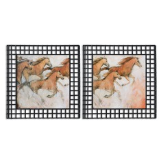 Uttermost Horse Fresco Framed Art, Set of 2