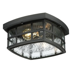 Quoizel Stonington Mystic Black Close To Ceiling Light