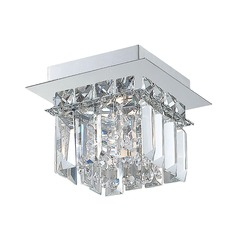 Alico Lighting Crown Chrome Flushmount Light