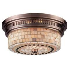 Flushmount Light in Antique Copper Finish